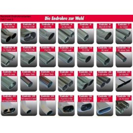 Racelook Gruppe A Duplex-Anlage Edelstahl/stainless steel SeatToledo 1M