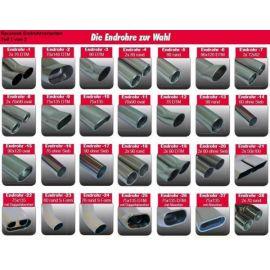 Racelook Gruppe A Duplex-ESD Edelstahl/stainless steel OpelCorsa D