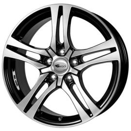 RC 26 black shiney Wheel 7,5x17 - 17 inch 5x100 bolt circle - 12403