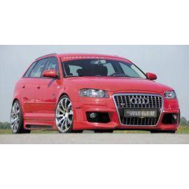 Front splitter carbon look Audi A3 8P Sportback