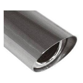 Fox Anschweißendrohr Typ 31 129x106 mm / Lange: 300 mm - oval / uneingerollt / 15° abgeschragt / mit
