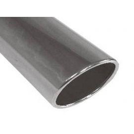 Fox Anschweißendrohr Typ 32 140x90 mm / Lange: 300 mm - oval / eingerollt / 15° abgeschragt / ohne A