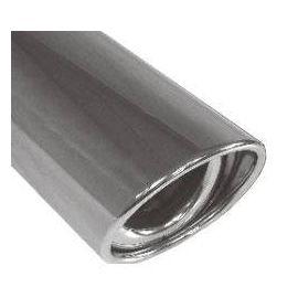 Fox Anschweißendrohr Typ 33 129x106 mm / Lange: 300 mm - oval / eingerollt / 15° abgeschragt / mit