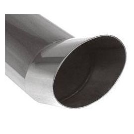 Fox end tip type Typ 40 115x85 mm / Length: 300 mm - oval / unrolled up / FOX-Design / without absorption refrigeration