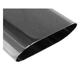 Fox Anschweißendrohr Typ 50 160x80 mm / Lange: 300 mm - Flachoval / uneingerollt / 15° abgeschragt /