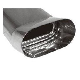 Fox end tip type Typ 55 160x80 mm / Length: 350 mm - flat oval / unrolled up / FOX-Design / with absorption refrigeration