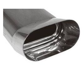 Fox end tip type Typ 56 160x80 mm / Length: 350 mm - flat oval / rolled up / FOX-Design / without absorption refrigeration