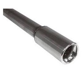"""Fox Anschweißendrohr Typ 80 """" 90 / Anschluss: 60 mm / Lange: 480mm - rund / eingerollt / gerade /"""