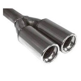 """Fox Anschweißendrohr Typ 81 2x """" 90 / Anschluss: 60 mm / Lange: 480mm - rund / eingerollt / gerade"""