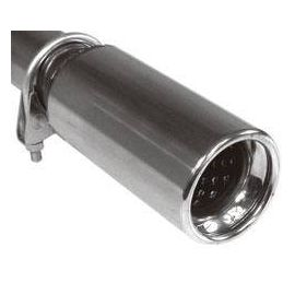"""Fox Anschraubendrohr Typ 90 """" 76 mm / Anschluss: 50mm / Lange: 170 mm - rund / eingerollt / gerade"""