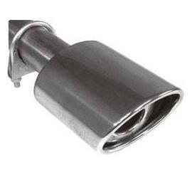 Fox Anschraubendrohr Typ 92 115x85 mm / Anschluss: 60mm / Lange: 170mm - oval / eingerollt / 15° a